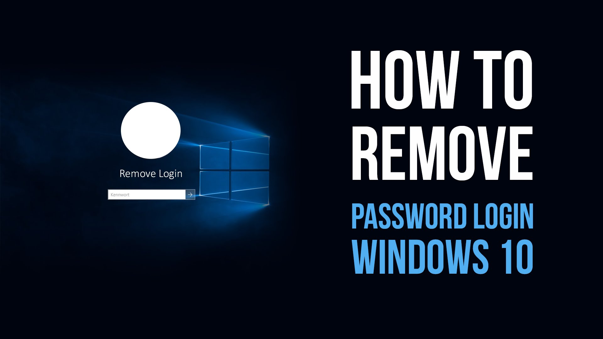 Reset Forgotten Windows 10 Login Password