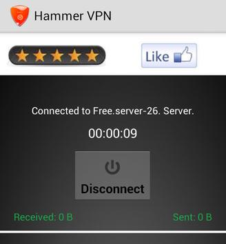 hammer vpn connected