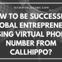 How to be Successful Global Entrepreneur Using Virtual Phone Number from CallHippo?