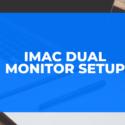 iMac dual monitor setup